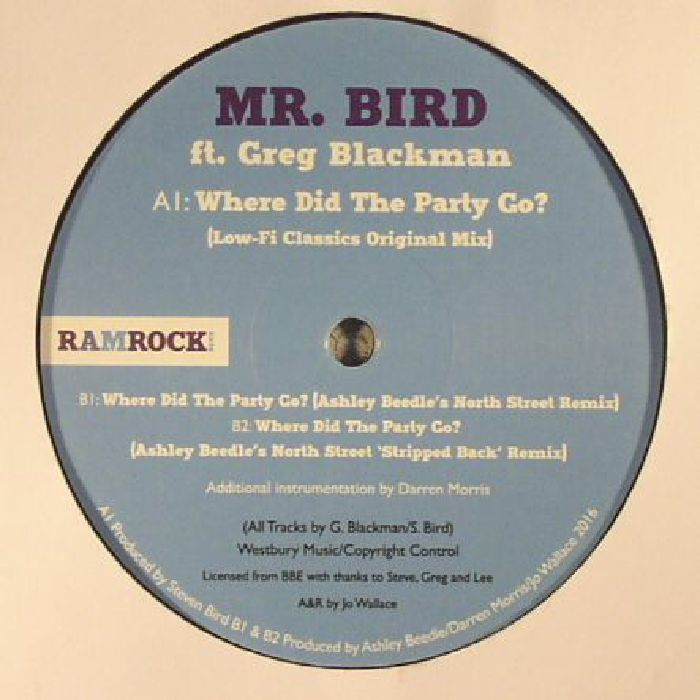 MR BIRD feat GREG BLACKMAN - Where Did The Party Go?