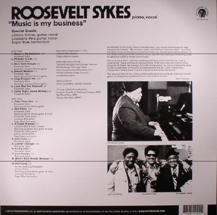 SYKES, Roosevelt - Music Is My Business (reissue)