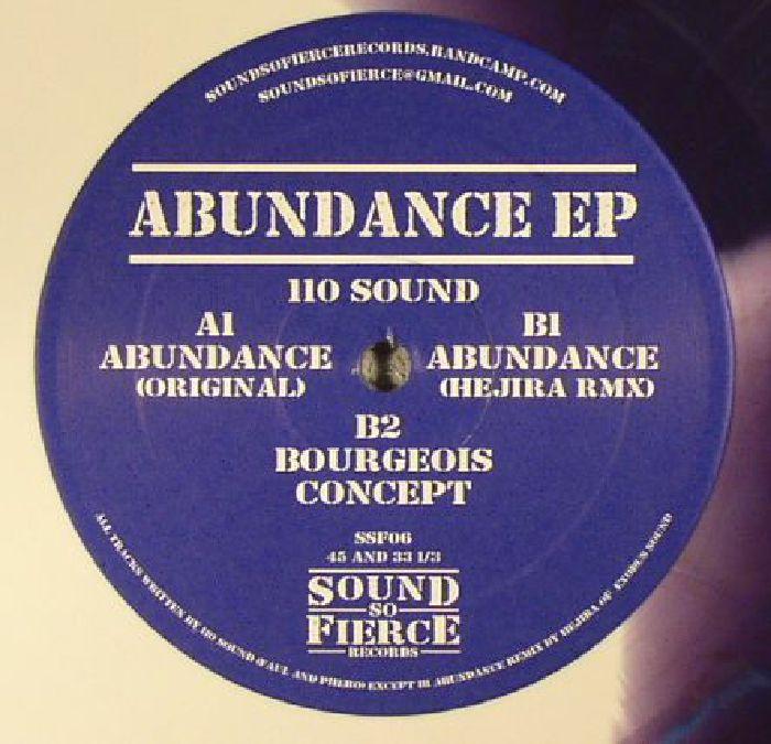 110 SOUND/HEJIRA - Abundance EP