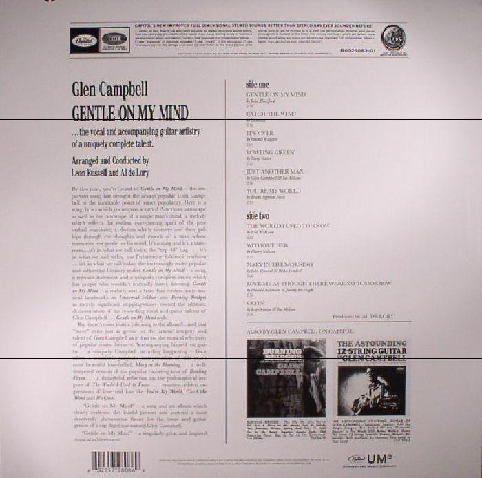 CAMPBELL, Glen - Gentle On My Mind (reissue)