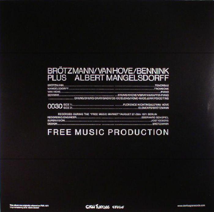 BROTZMANN/VAN HOVE/BENNINK/ ALBERT MANGELSDROFF - Elements (reissue)