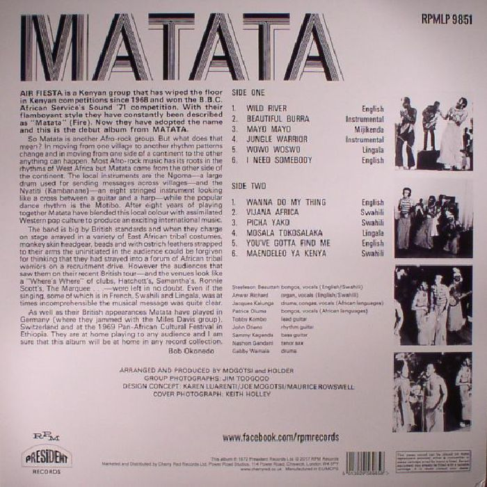MATATA - Air Fiesta (Record Store Day 2017)