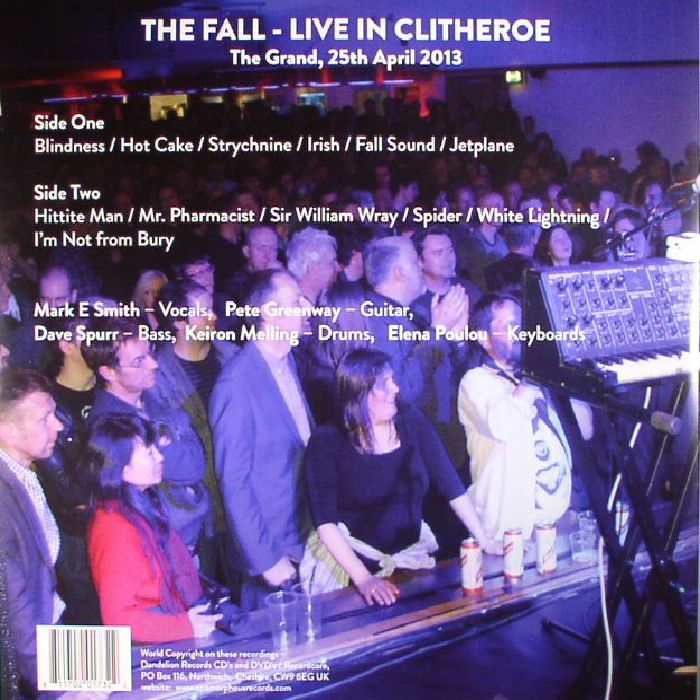 FALL, The - Live In Clitheroe (Record Store Day 2017)