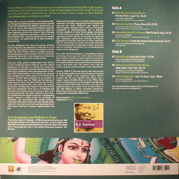VARIOUS - The Rough Guide To Bollywood: The Psychedelic Years (Record Store Day 2017)