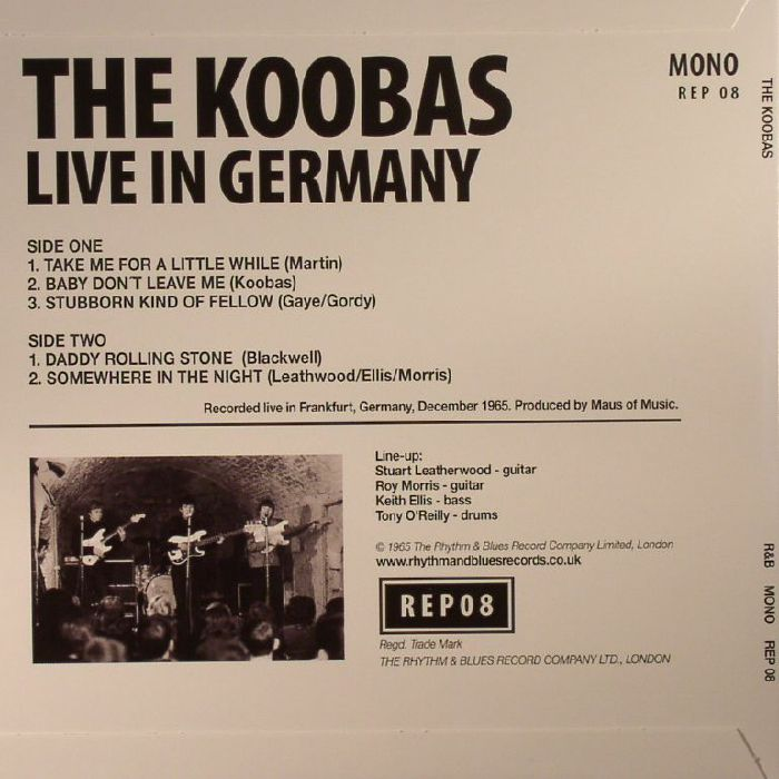 KOOBAS, The - Live In Germany (Record Store Day 2017)