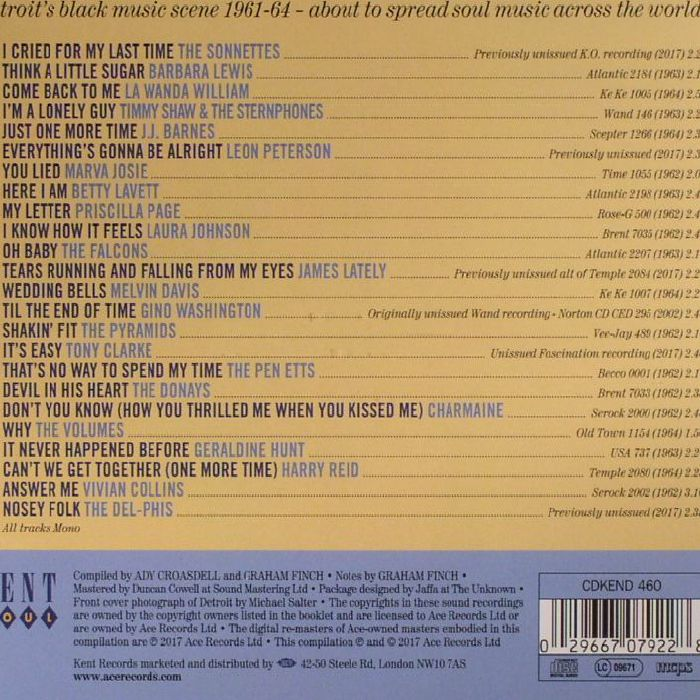 VARIOUS - Birth Of Soul: Special Detroit Edition 1961-64