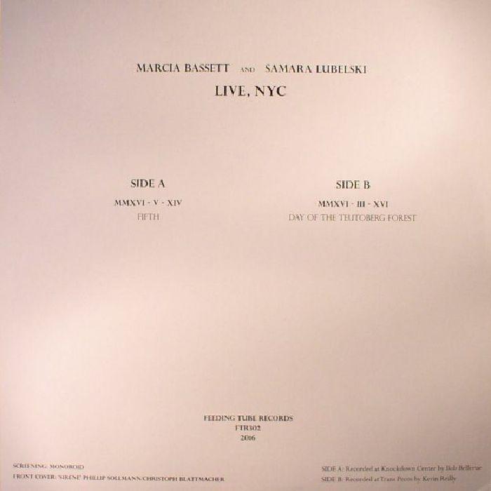 BASSETT, Marcia/SAMARA LUBELSKI - Live NYC