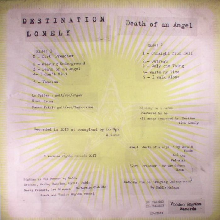 DESTINATION LONELY - Death Of An Angel