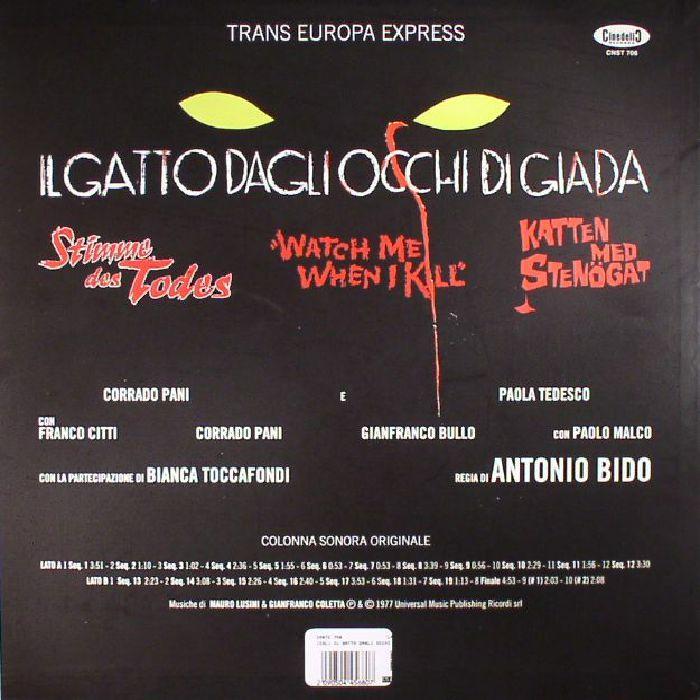 TRANS EUROPA EXPRESS - Il Gatto Dagli Occhi Di Giada (Soundtrack)