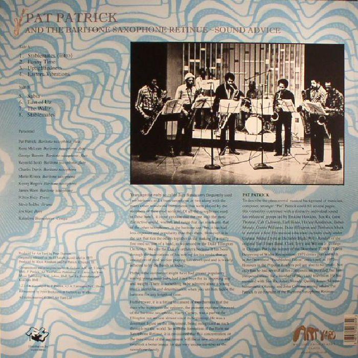 PATRICK, Pat/THE BARITONE SAXOPHONE RETINUE - Sound Advice (reissue)