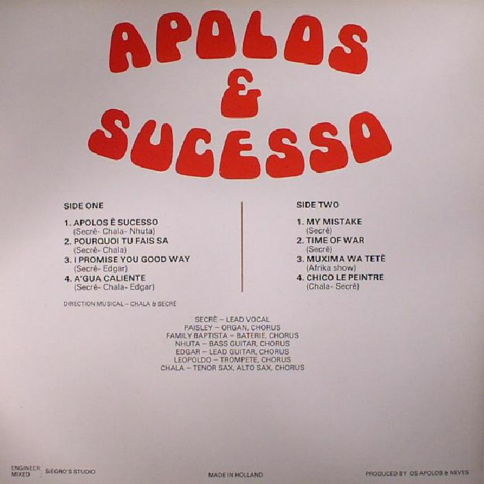 APOLOS - Apolos & Sucesso (warehouse find, slight sleeve wear)
