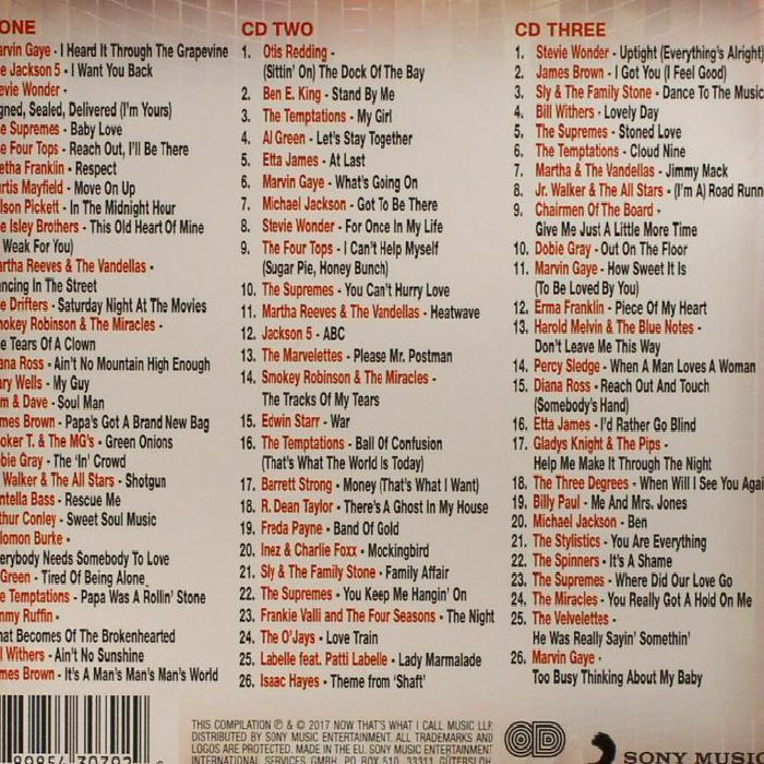 Various now that 39 s what i call classic soul cd for Classic house unmixed