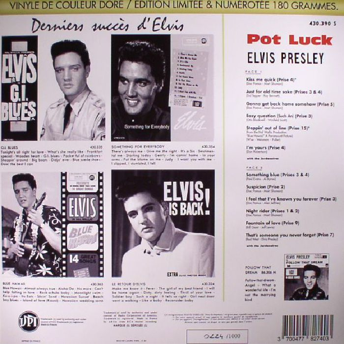 PRESLEY, Elvis - Pot Luck (Record Store Day 2017)