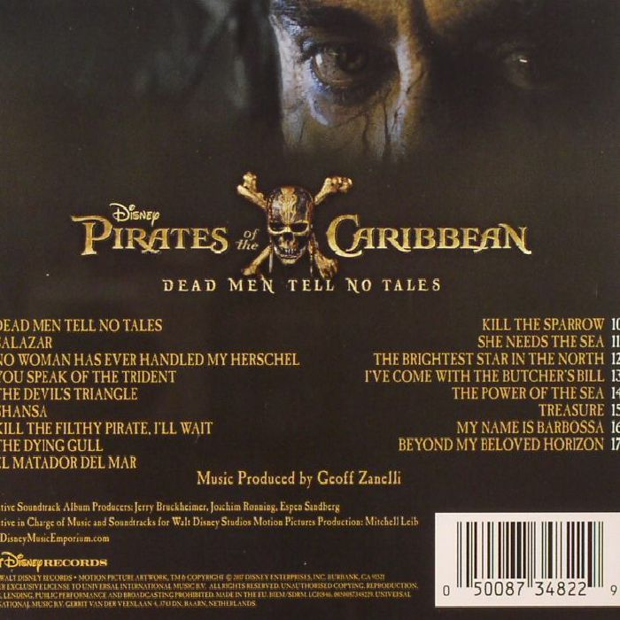 Geoff ZANELLI Pirates Of The Caribbean: Dead Men Tell No