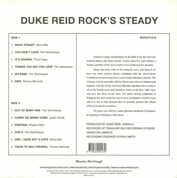 REID, Duke/VARIOUS - Duke Reid Rock's Steady (reissue)