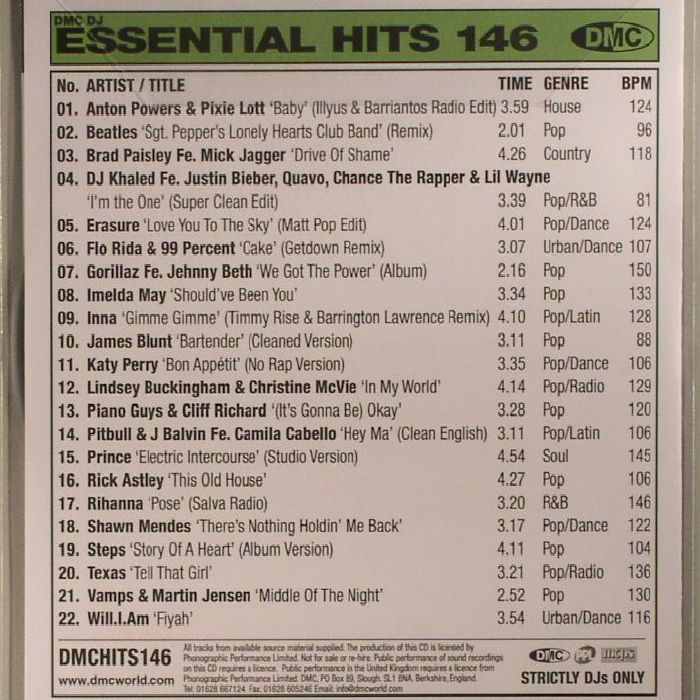 VARIOUS - DMC Essential Hits 146 (Strictly DJ Only)