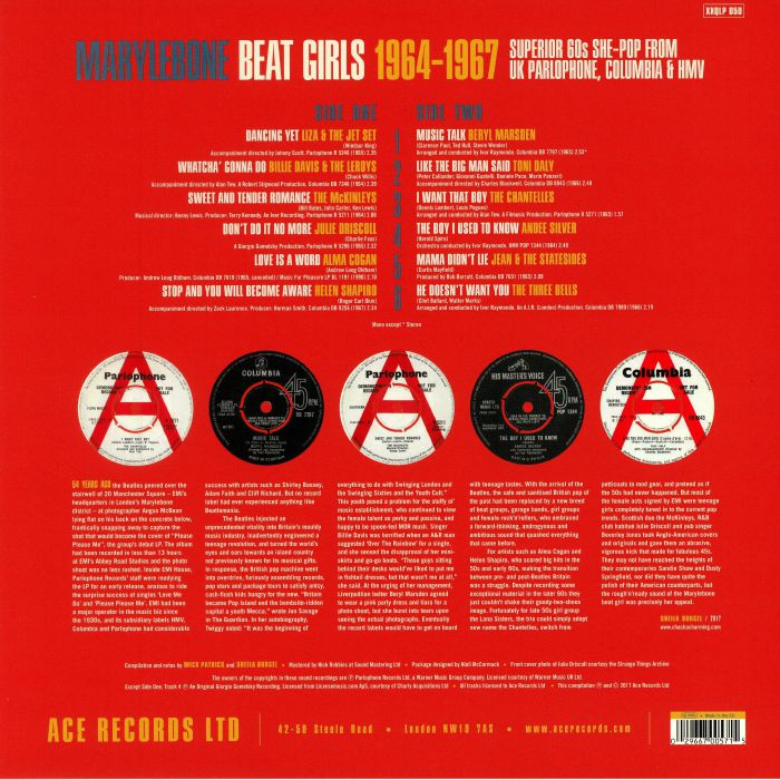 VARIOUS - Marylebone Beat Girls 1964-1967
