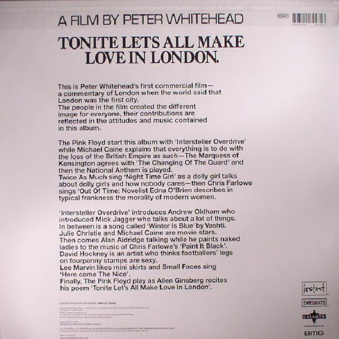 VARIOUS - Tonite Let's All Make Love In London (Soundtrack) (reissue)