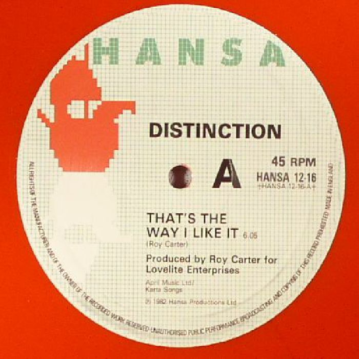 DISTINCTION - That's The Way I Like It (reissue)
