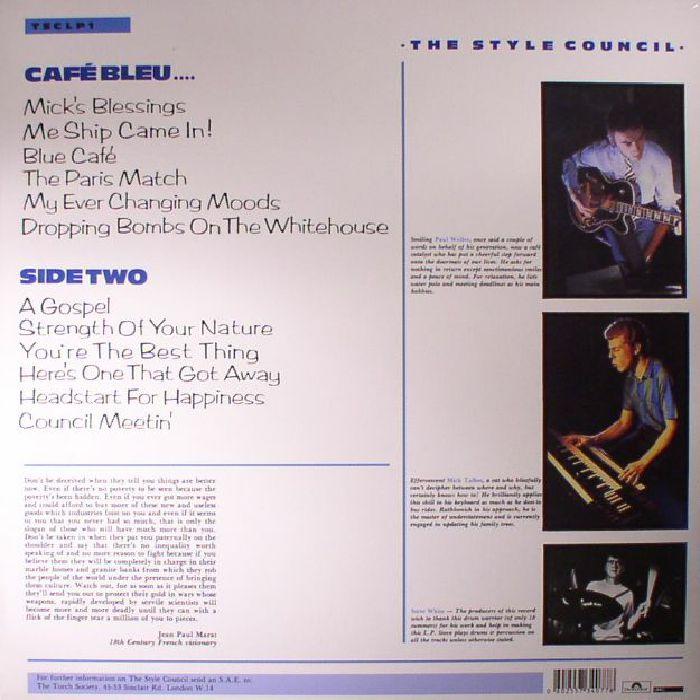 STYLE COUNCIL, The - Cafe Bleu (reissue)
