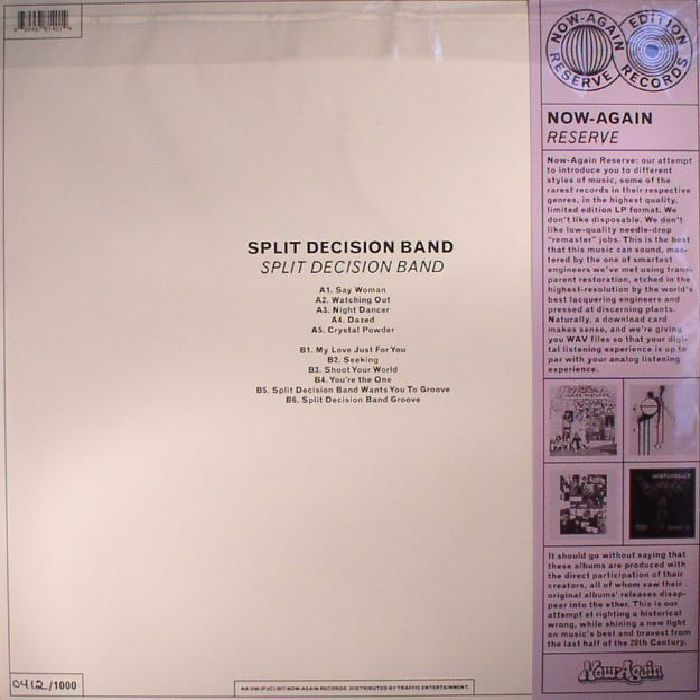 SPLIT DECISION BAND - Split Decision Band