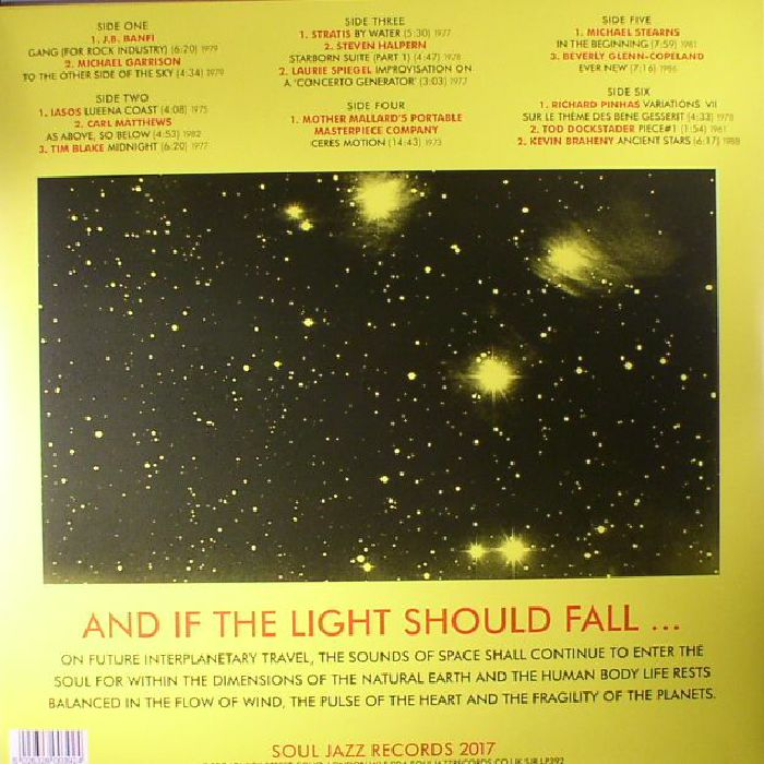 VARIOUS - Space Energy & Light: Experimental Electronic & Acoustic Soundscapes 1961-88