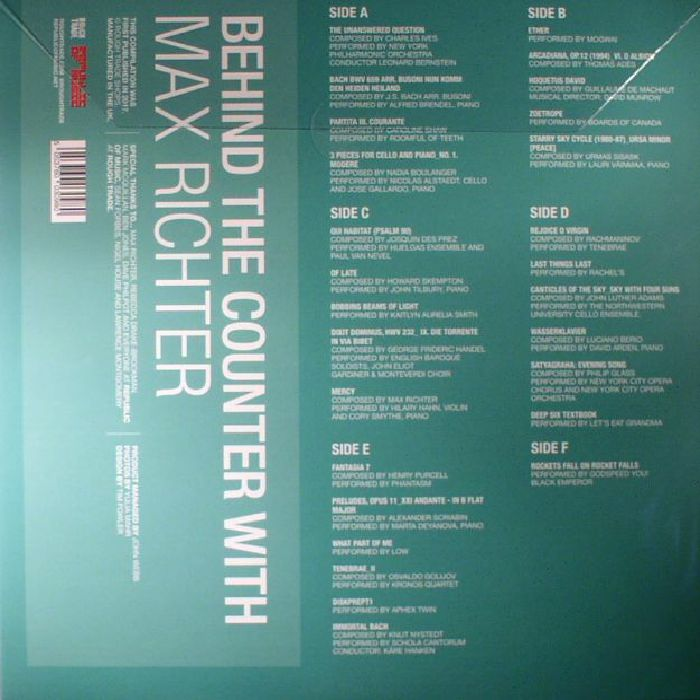 RICHTER, Max/VARIOUS - Behind The Counter With Max Richter