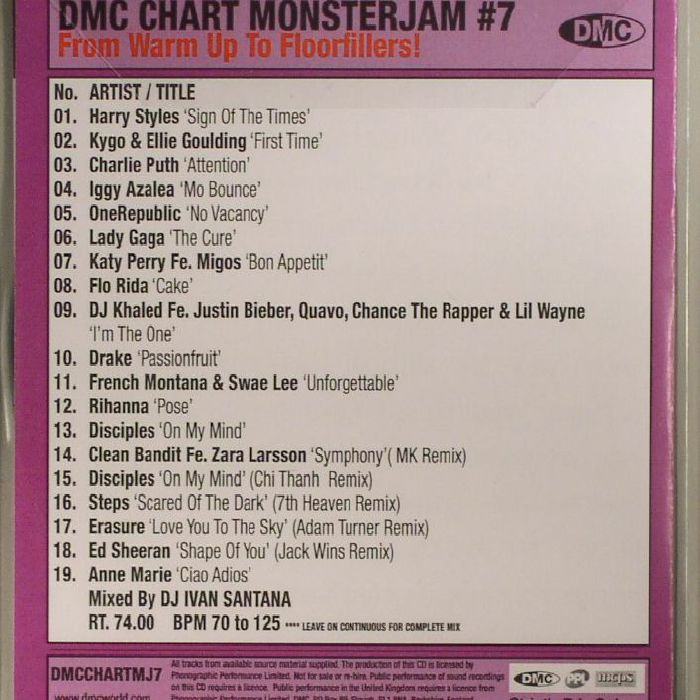 VARIOUS - DMC Chart Monsterjam #7 June 2017 (Strictly DJ Only)
