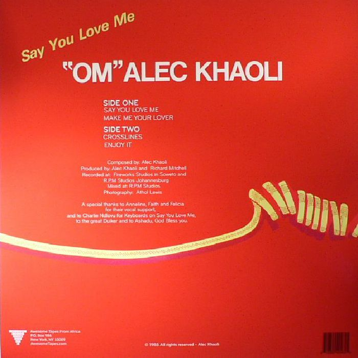 KHAOLI, Alec - Say You Love Me