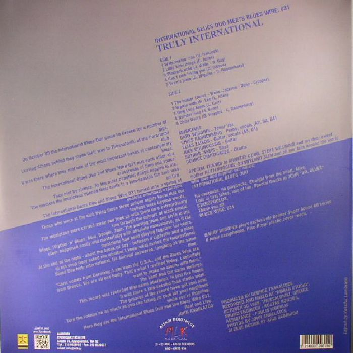 INTERNATIONAL BLUES DUO meets BLUES WIRE 031 - Truly International (reissue)