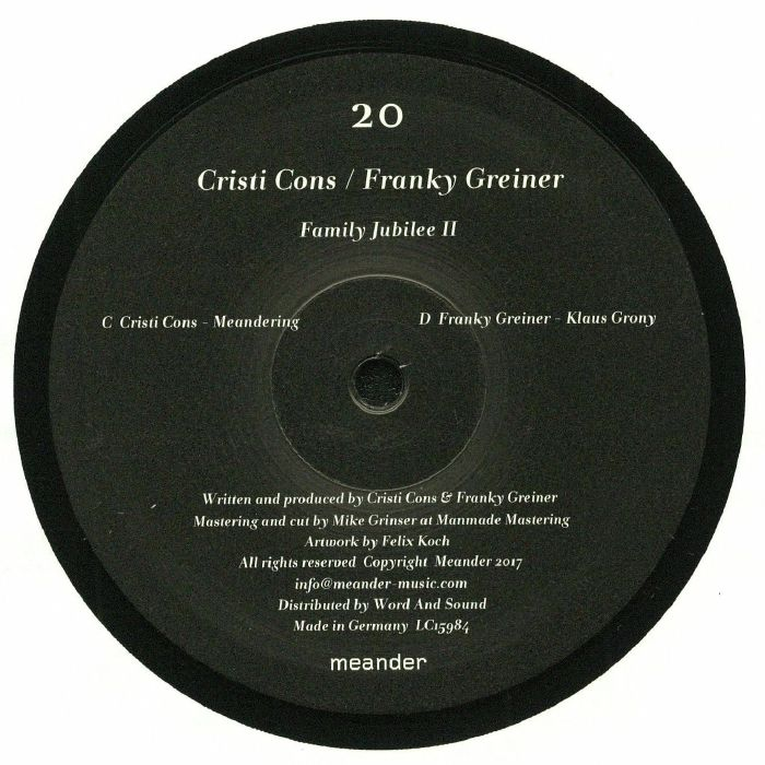 CRISTI CONS/FRANKY GREINER - Family Jubilee II: Part 2 Of 3
