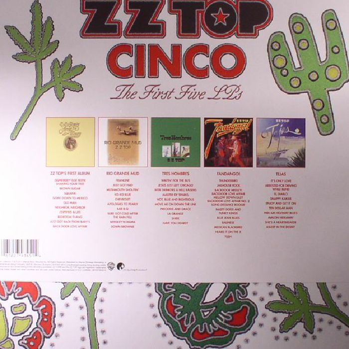 ZZ TOP - Cinco: The First Five LPs