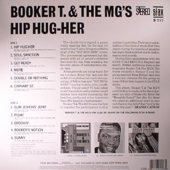 BOOKER T & THE MGs - Hip Hug Her (reissue)
