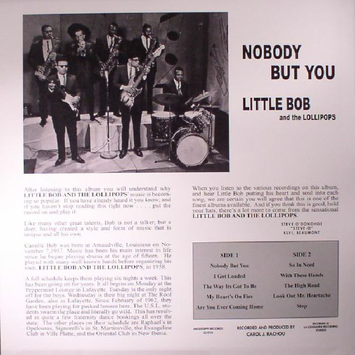 LITTLE BOB & THE LOLLIPOPS - Nobody But You (reissue)