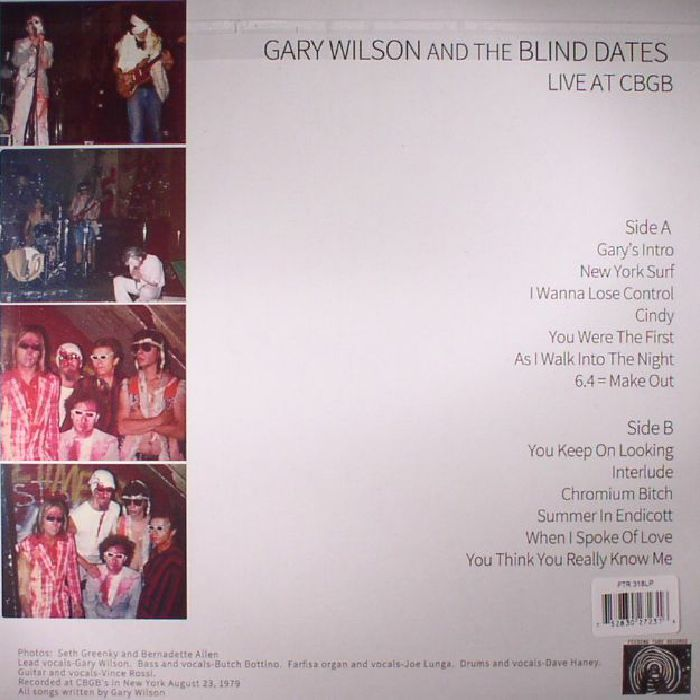 WILSON, Gary/THE BLIND DATES - Live At CBGB