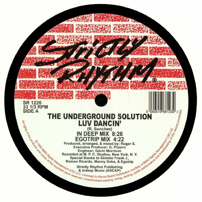 The Underground Solution Luv Dancin Reissue Vinyl At