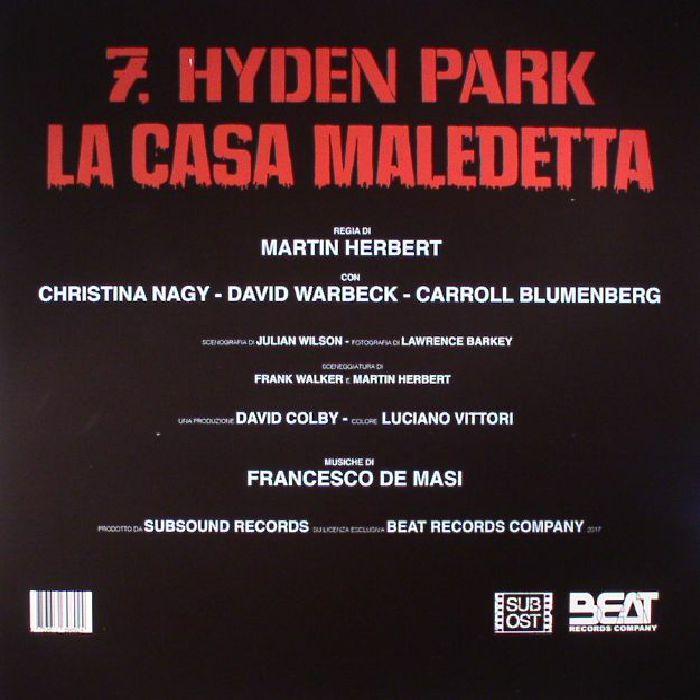 DE MASI, Francesco - 7 Hyden Park La Casa Maledetta (Soundtrack)