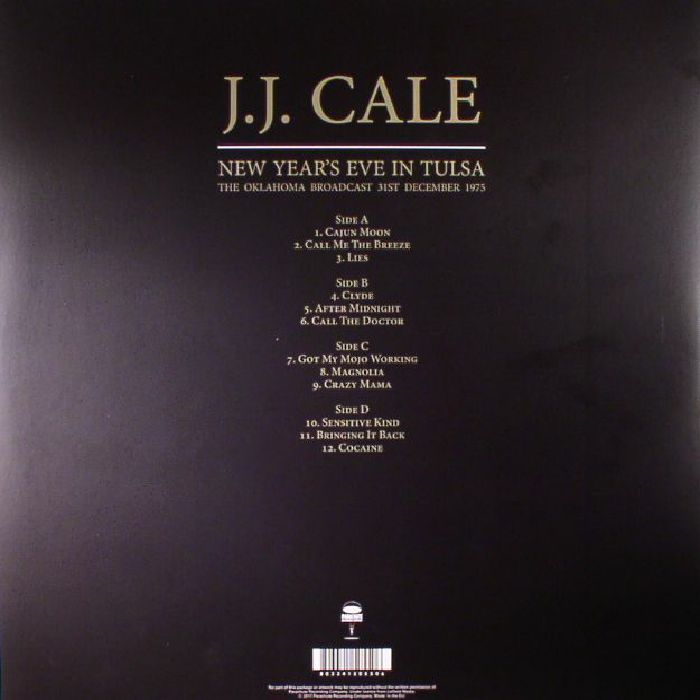 CALE, JJ - New Year's Eve In Tulsa: The Oklahoma Broadcast 31st December 1975
