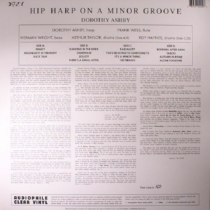 ASHBY, Dorothy - Hip Harp On A Minor Groove (reissue)