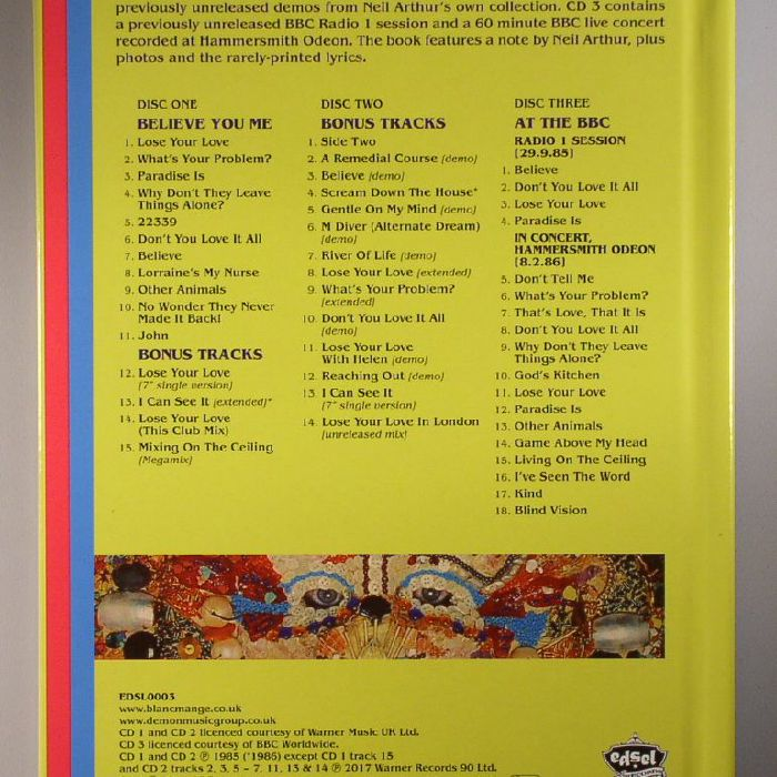 Blancmange Believe You Me Vinyl At Juno Records