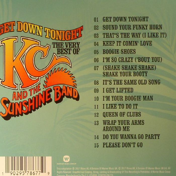 KC & THE SUNSHINE BAND - Get Down Tonight: The Best Very Of KC & The Sunshine Band