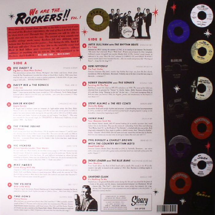 VARIOUS - We Are The Rockers!! Vol 1: 16 Early 60's Real Rock & Roll Killers