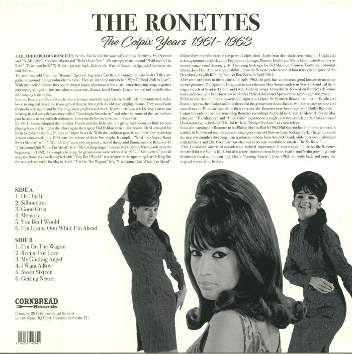 RONETTES, The feat VERONICA - The Colpix Years 1961-1963 (reissue)