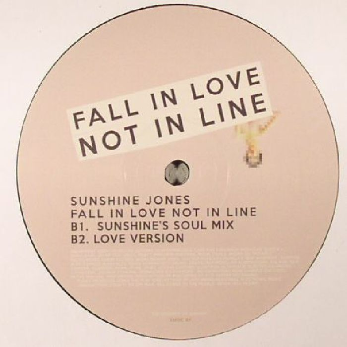 JONES, Sunshine - Fall In Love Not In Line