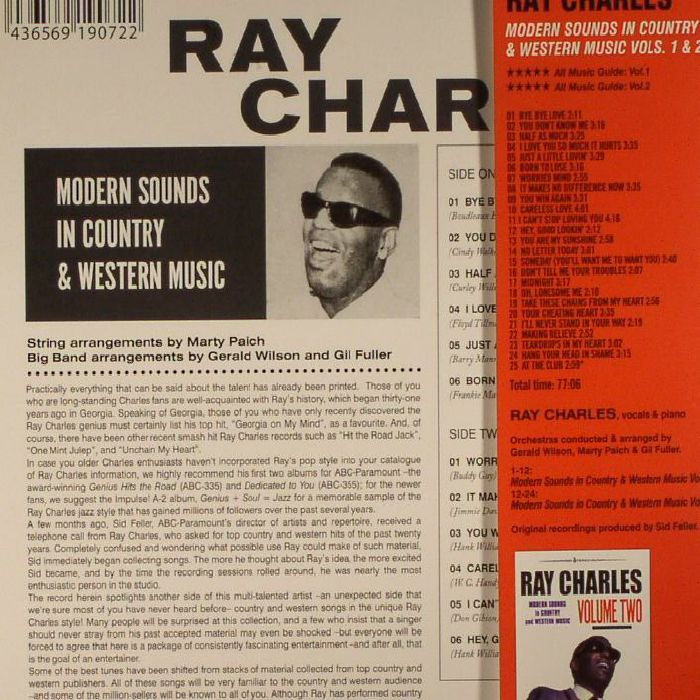 CHARLES, Ray - Modern Sounds In Country & Western Music (remastered)