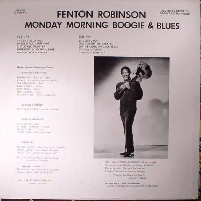 ROBINSON, Fenton - Monday Morning Boogie & Blues (warehouse find)