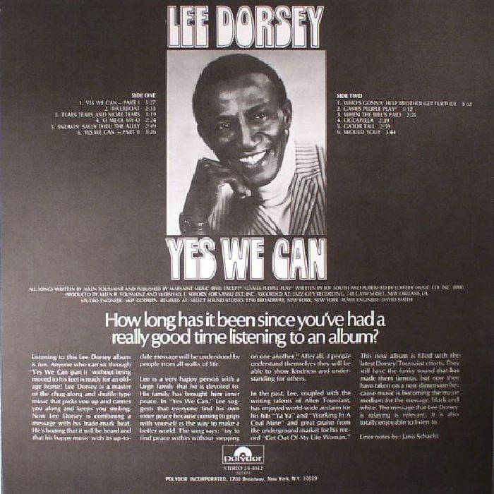 Lee Dorsey Yes We Can Reissue Vinyl At Juno Records