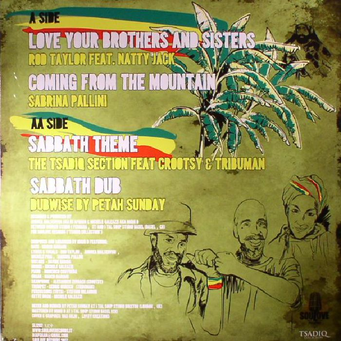 DJ AFGHAN/MIGHI D presents TAYLOR, Rod/SABRINA PALLINI/THE TSADIQ SECTION/PETAH SUNDAY - Tsadiq Collection Vol 2