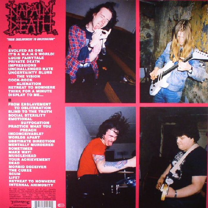 NAPALM DEATH - From Enslavement To Obliteration (reissue)