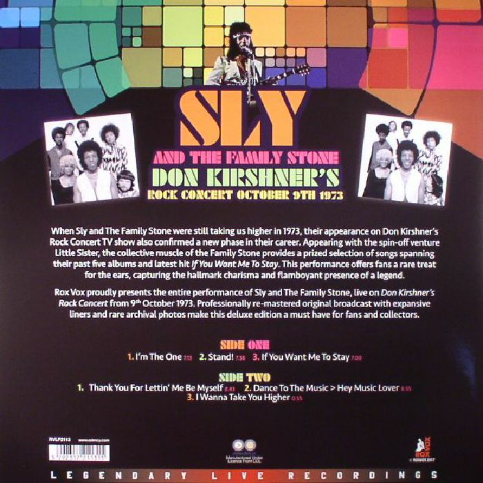 SLY & THE FAMILY STONE - Don Kirshner's Rock Concert October 9th 1973